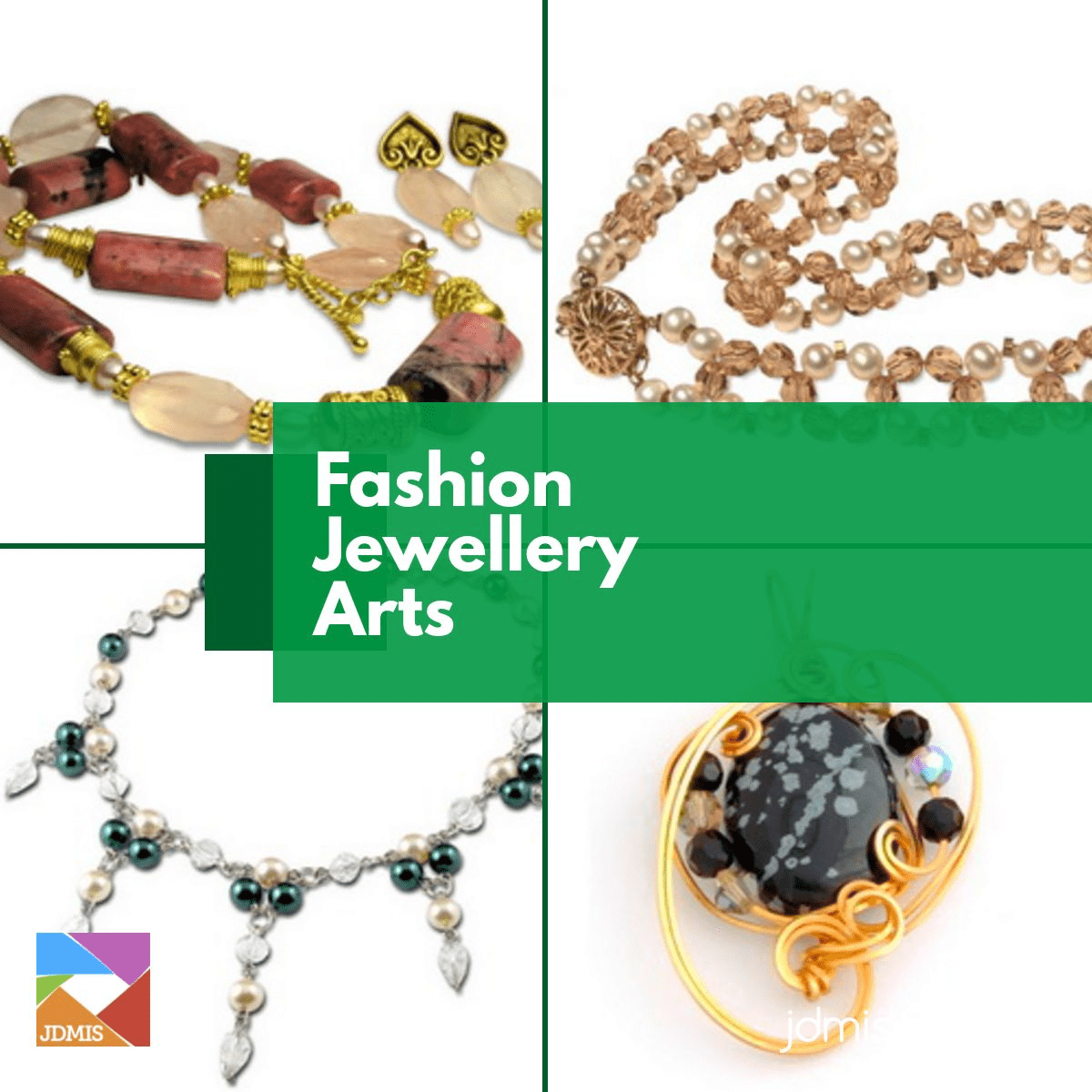 Get started in fashion jewellery design by assembling unique pieces with different hands-on techniques.